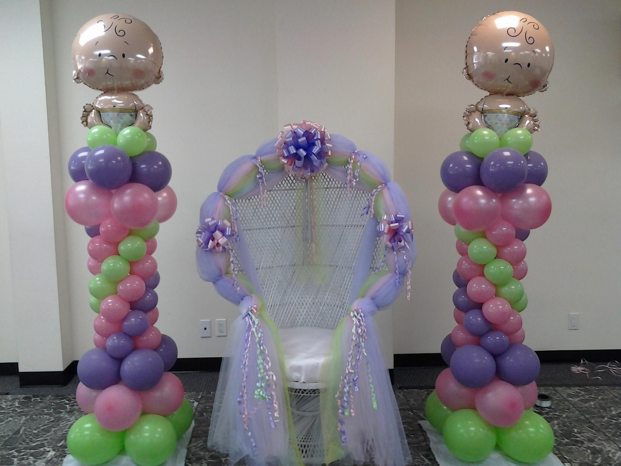 Baby Shower Balloon Columns Festive Affairs