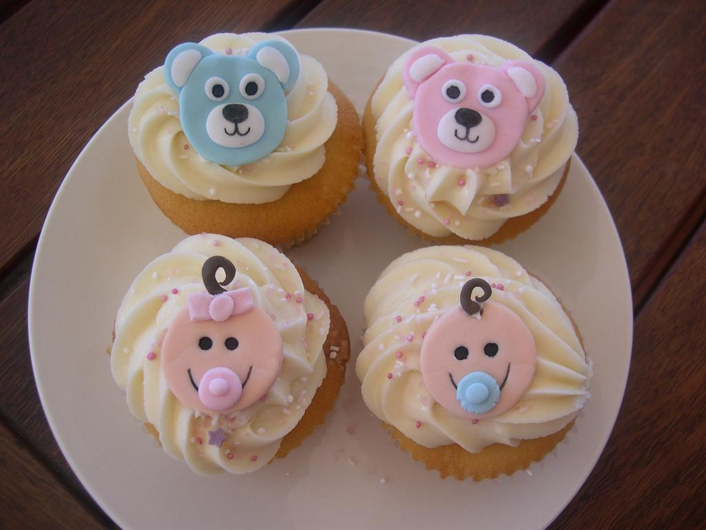 Baby Shower Cupcakes These Part