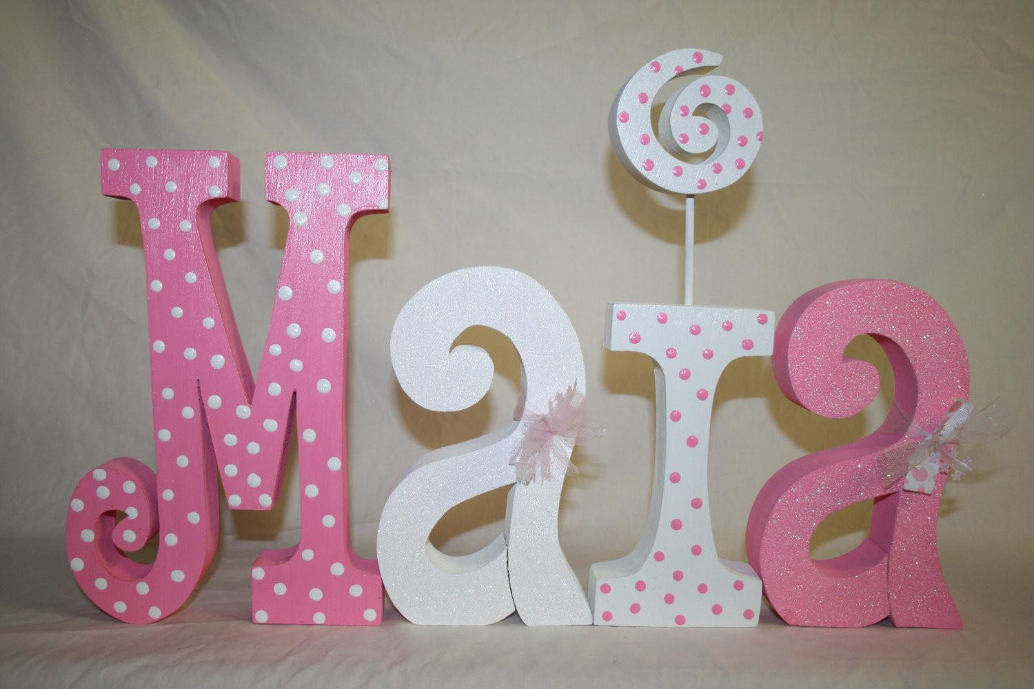 Baby Shower Decoration Wood Letters Woodenwondersshop