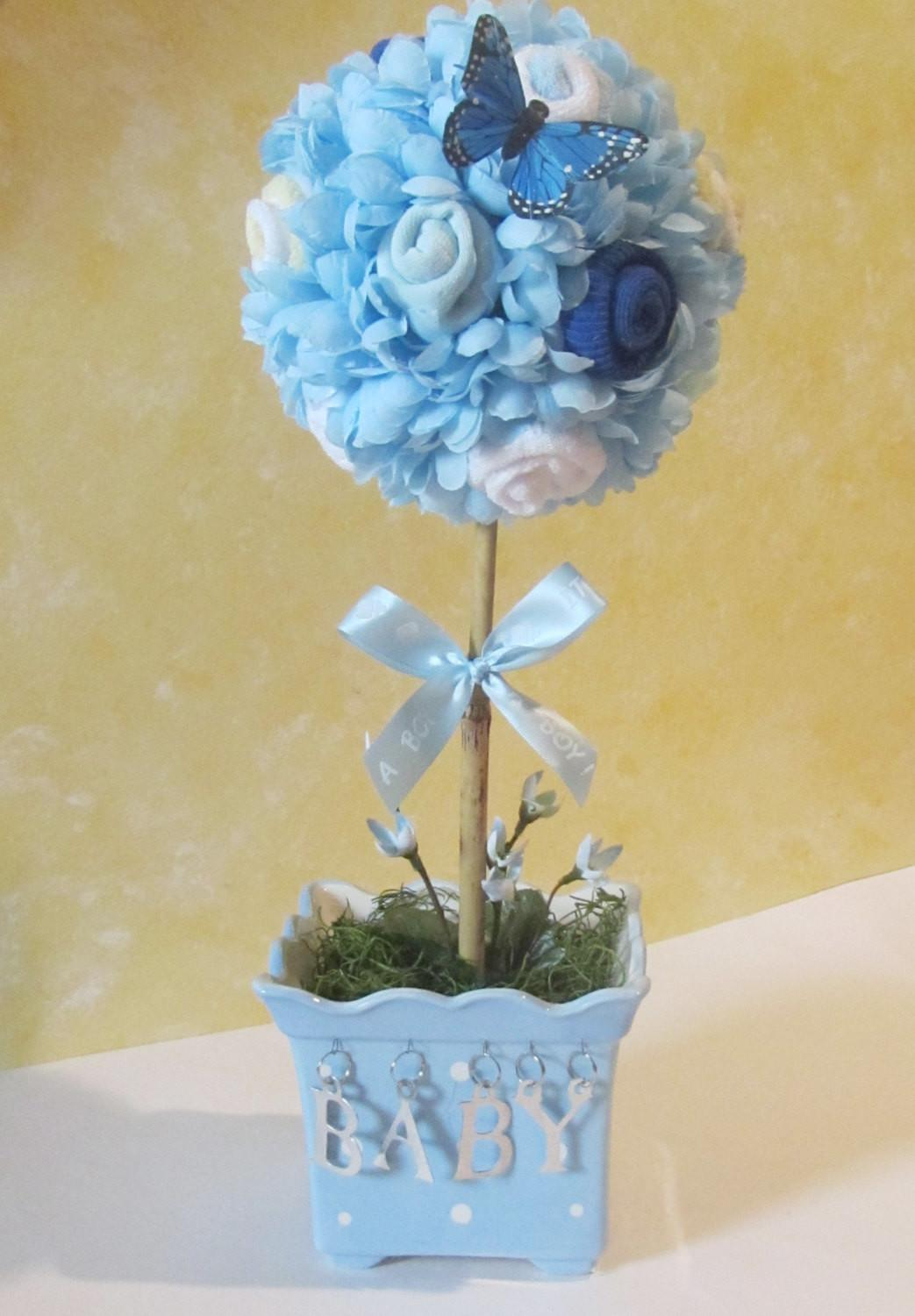 Baby Topiary Shower Centerpiece Boy