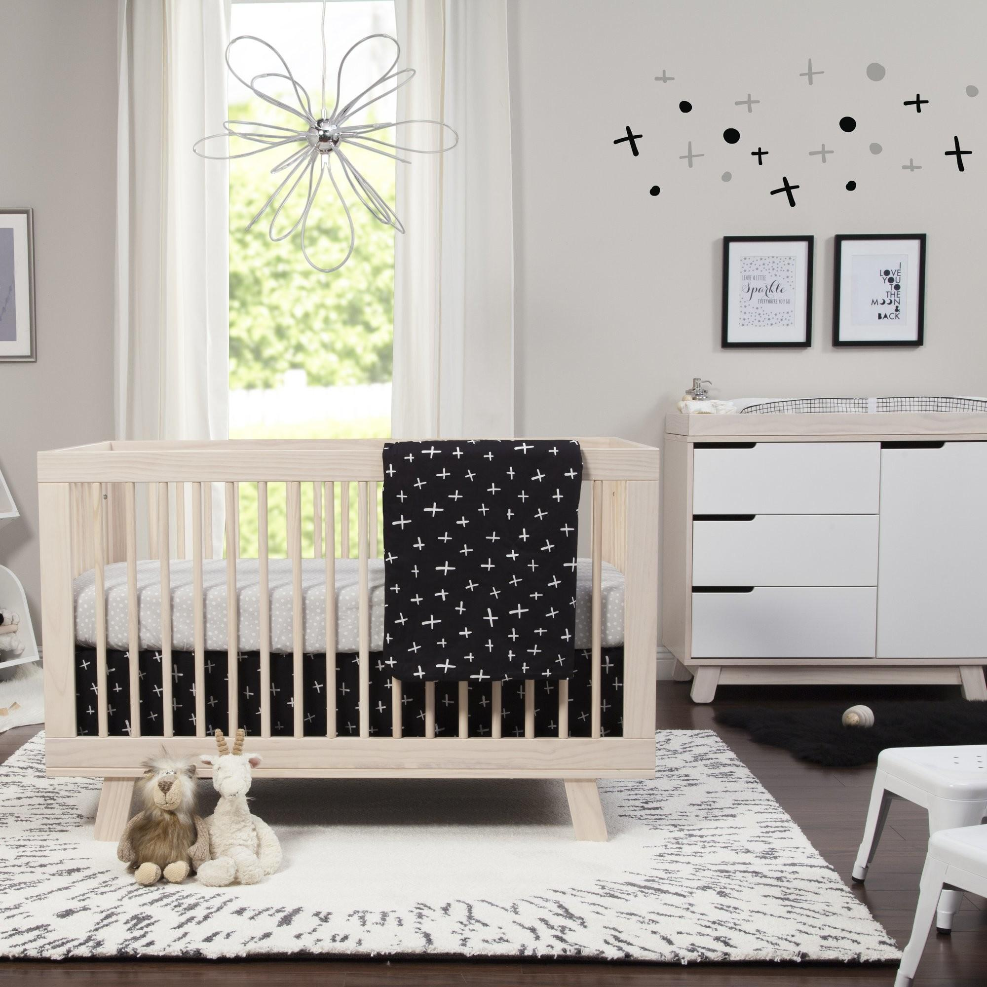 Babyletto Tuxedo Monochrome Nursery Piece Crib Bedding
