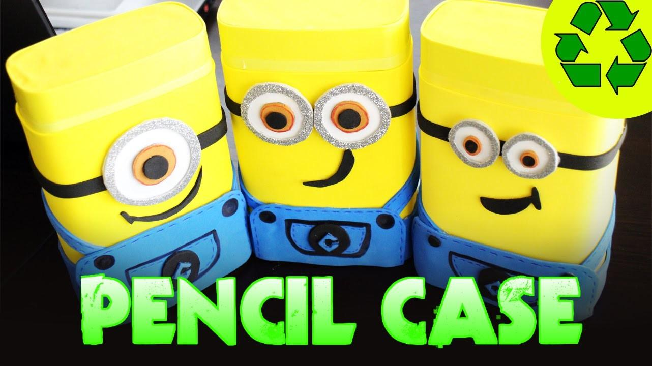 Back School Crafts Minions Pencil Case