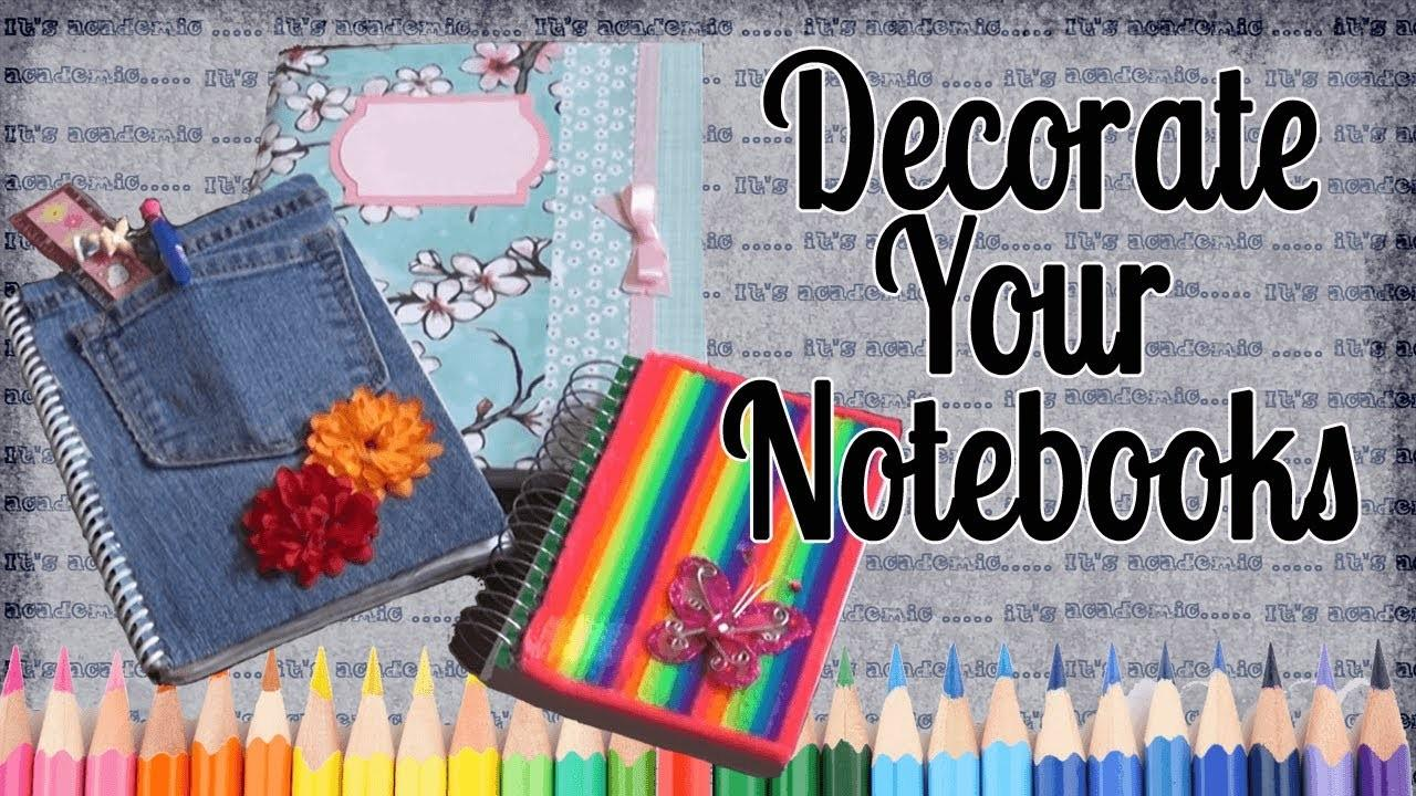 Back School Ideas Decorate Your Notebooks