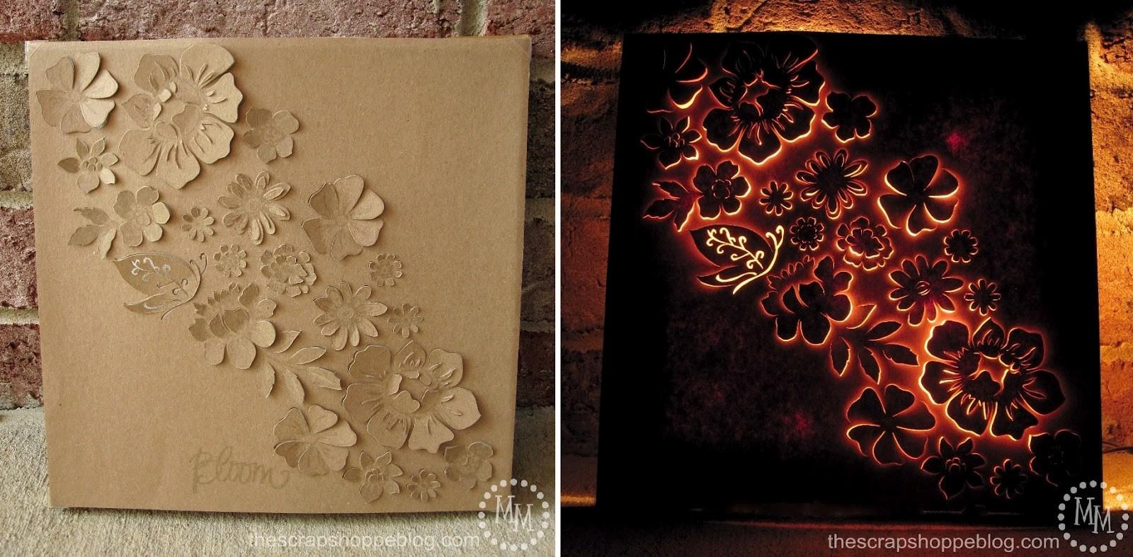 Ingenious Diy Lighted Natural Wall Art