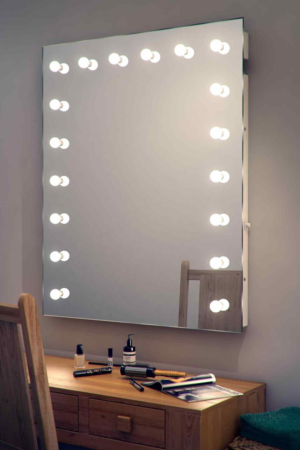 Backlit Mirror Diy Modern Wall Mounted Magnifying
