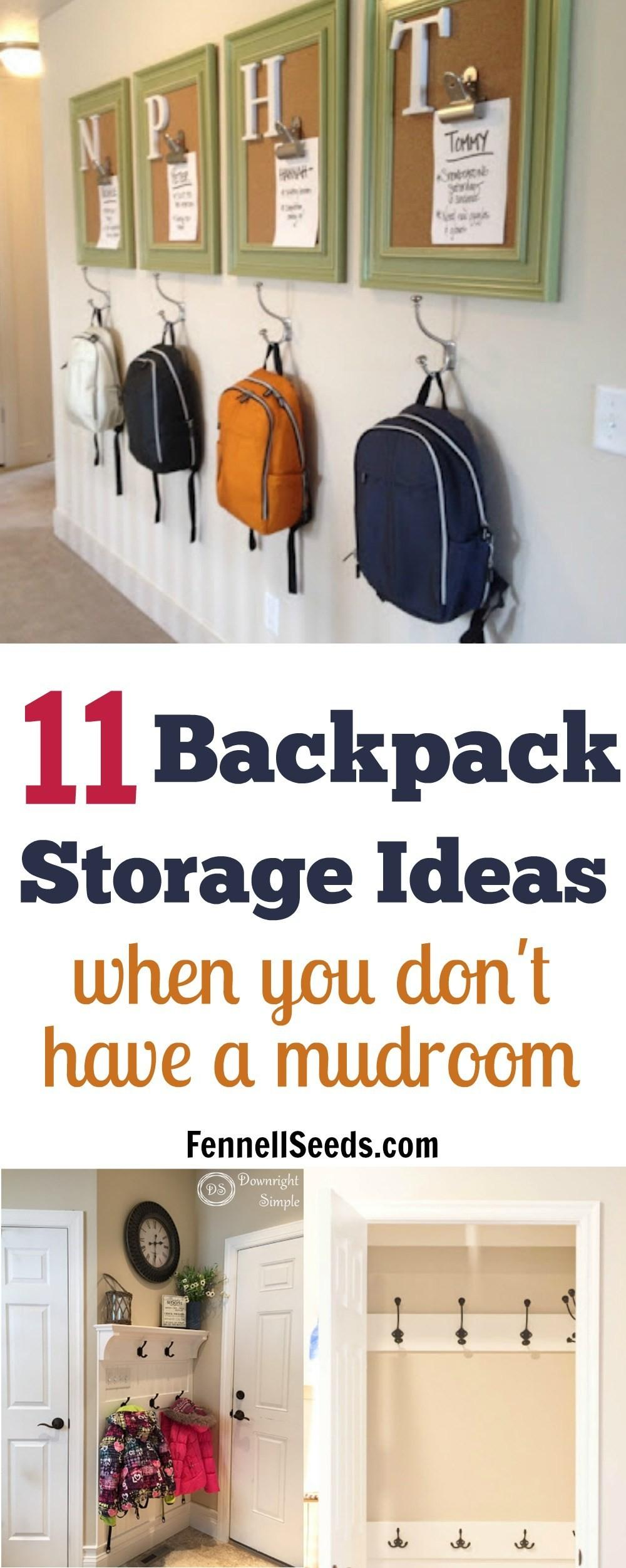 Backpack Storage Ideas Don Have Mudroom