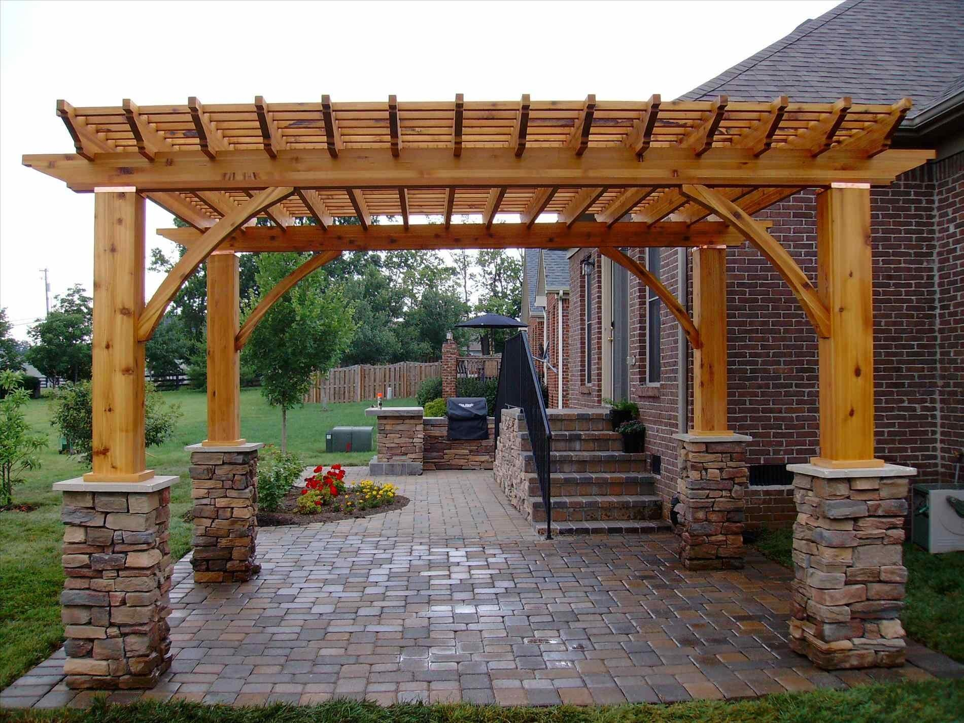 Backyard Fireplace Pergola Cpmpublishingcom