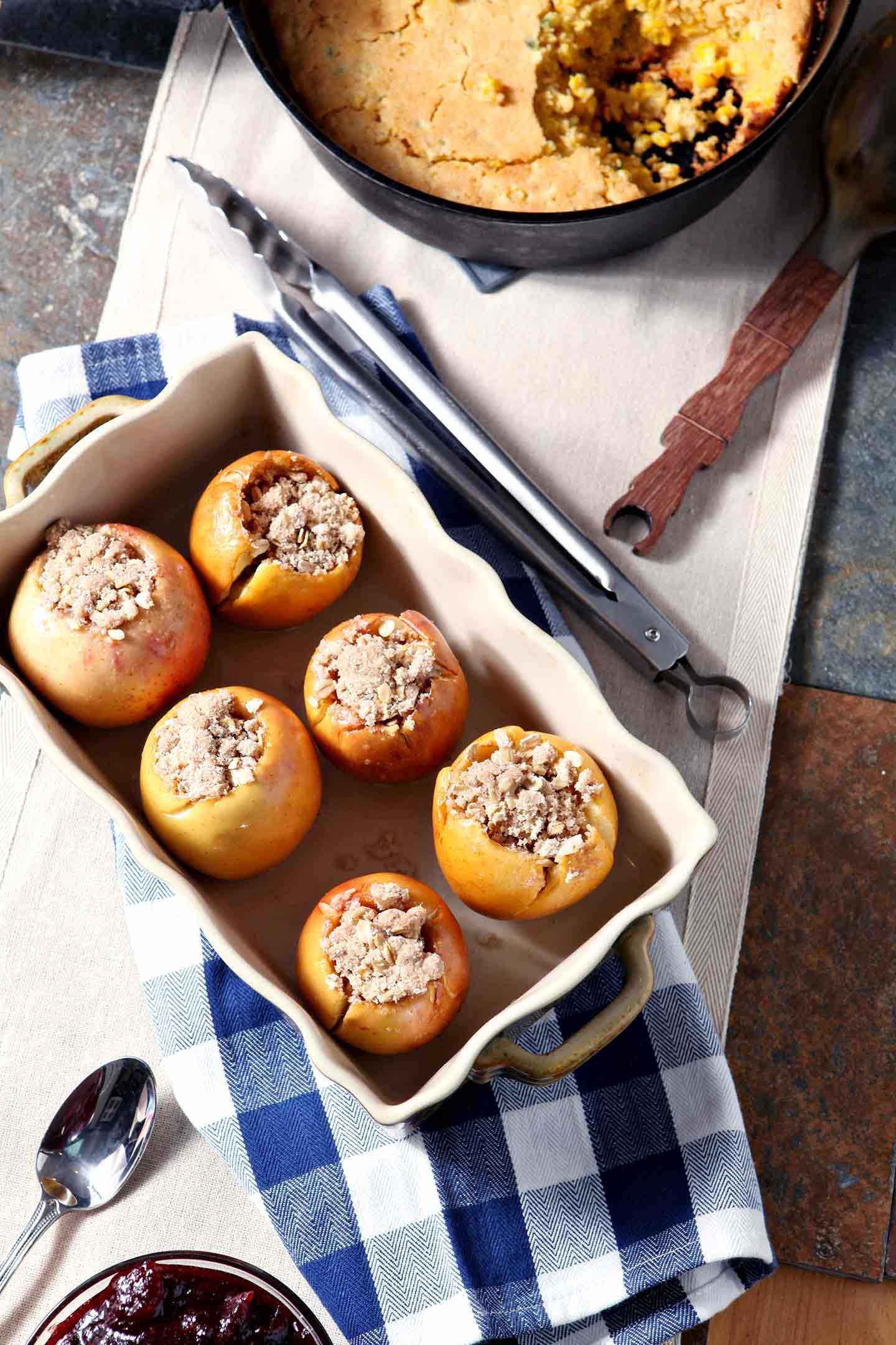 Bacon Streusel Stuffed Baked Apples Speckled Palate