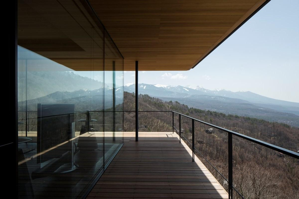 Balcony Views Mountain House Nagano Japan
