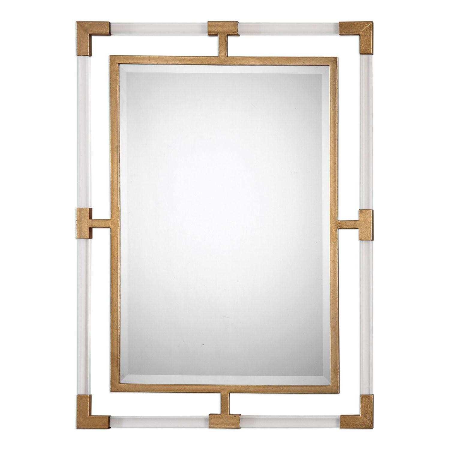 Balkan Modern Gold Wall Mirror Uttermost