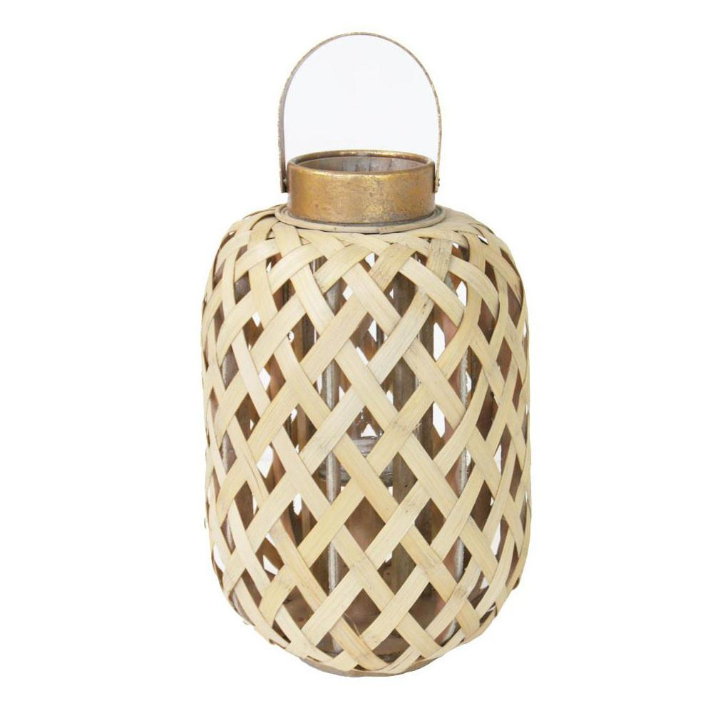 Bamboo Lantern Natural 41cm Summer Decor Clearance
