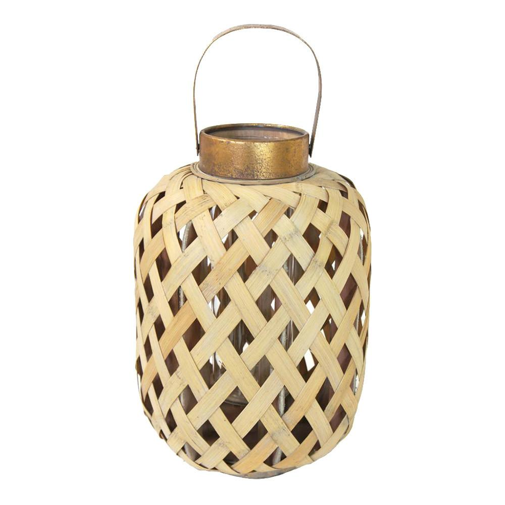 Bamboo Lantern Natural Summer Decor Clearance