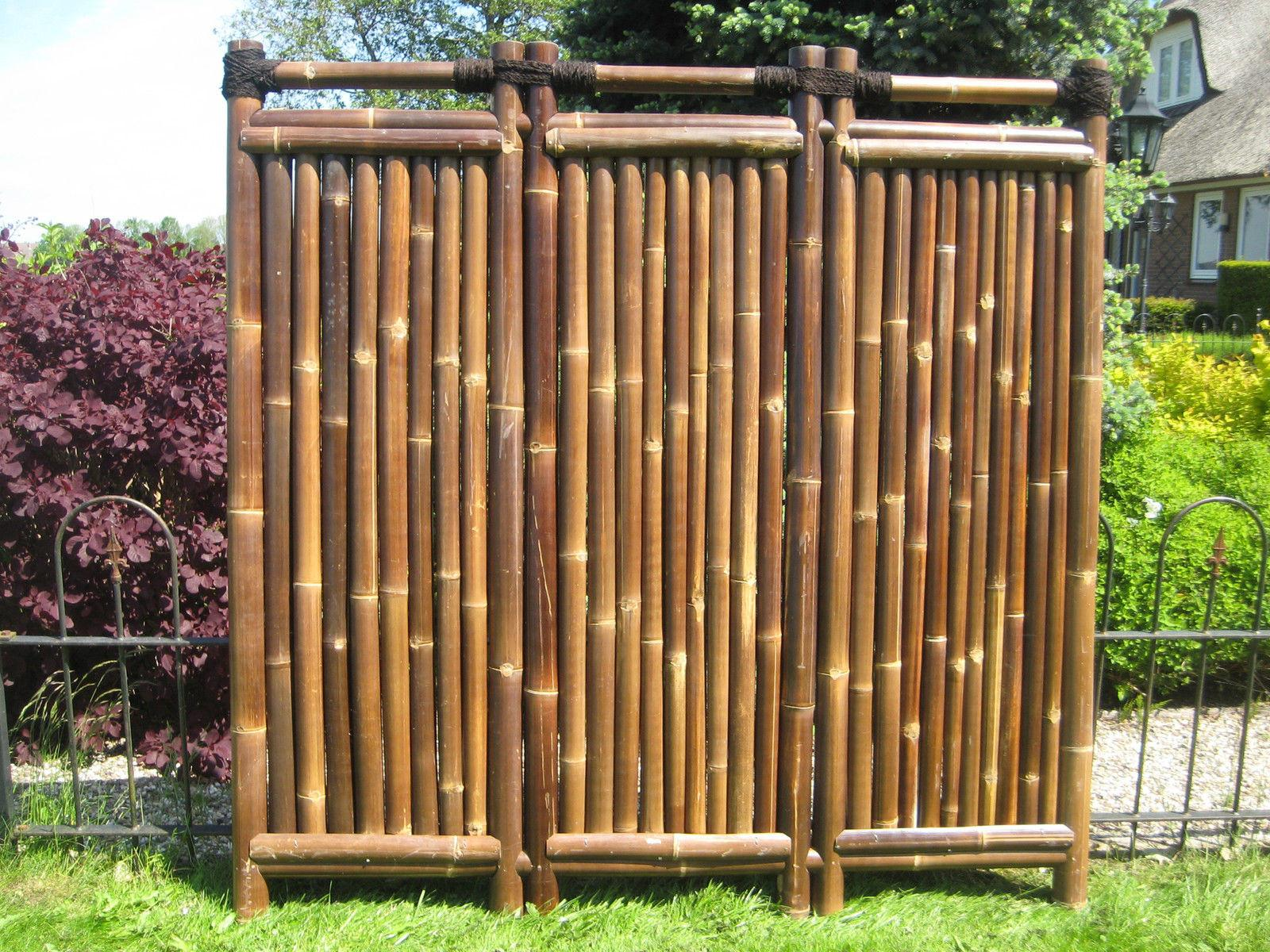 Bamboo Privacy Screen Garden Fence Anji Type