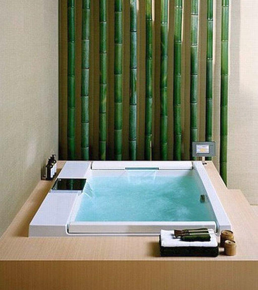 Bamboo Themed Bathroom Small Space