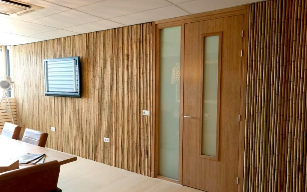Bamboo Wall Covering Office Ideas Tedx Decors
