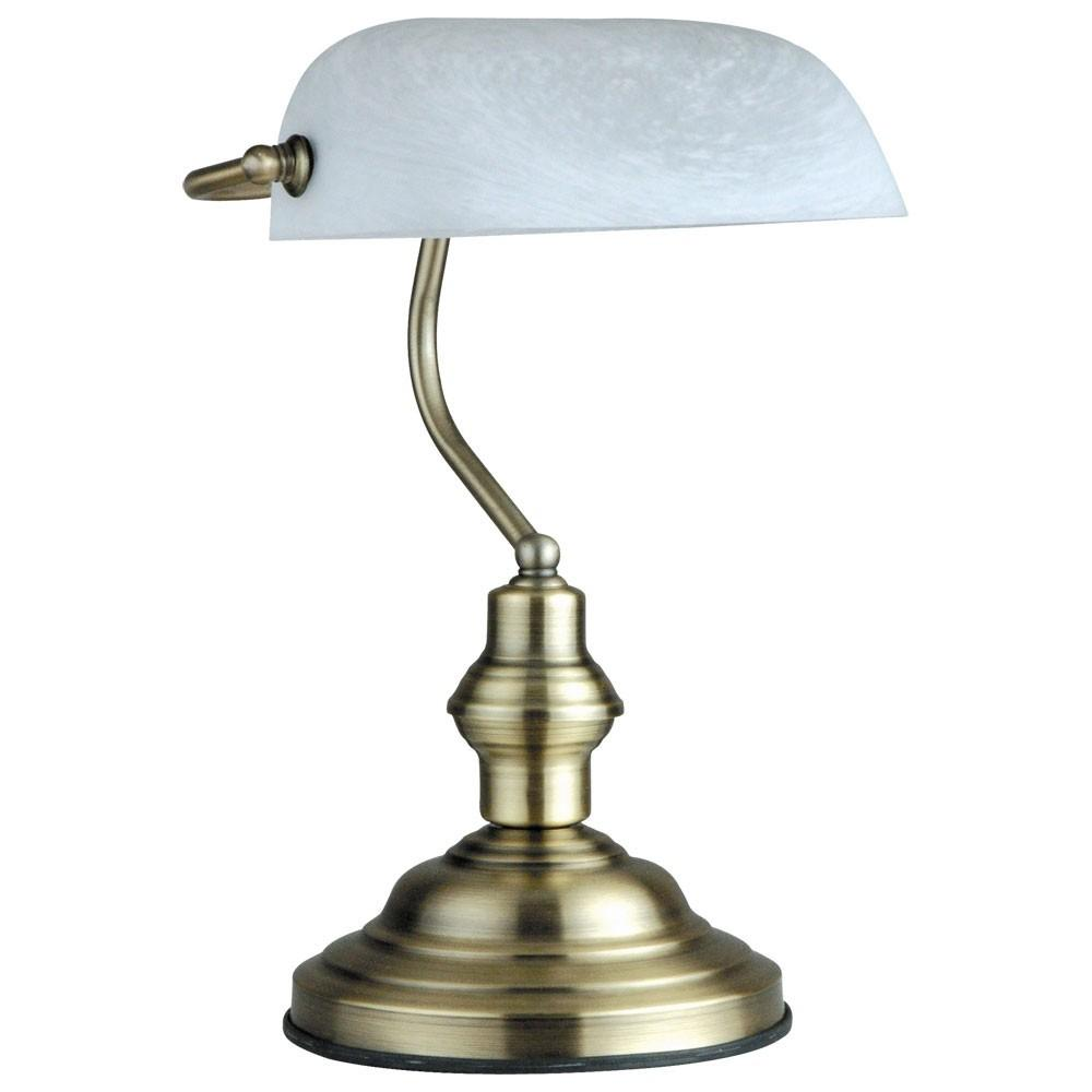 Bankers Lamp Antique Old Brass Desk Office Table