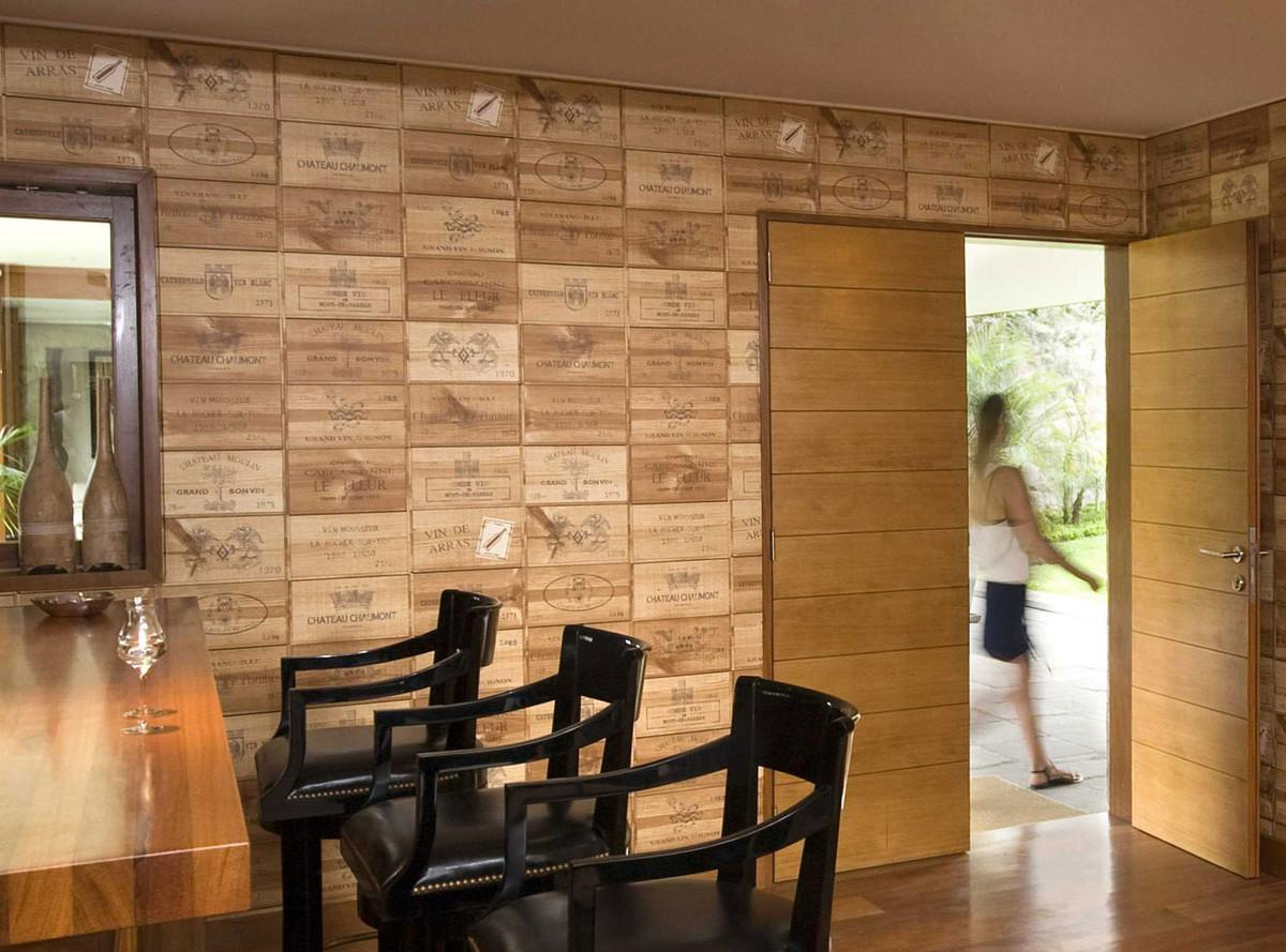 Bar Walls Decorated Wine Crate Panels Begs