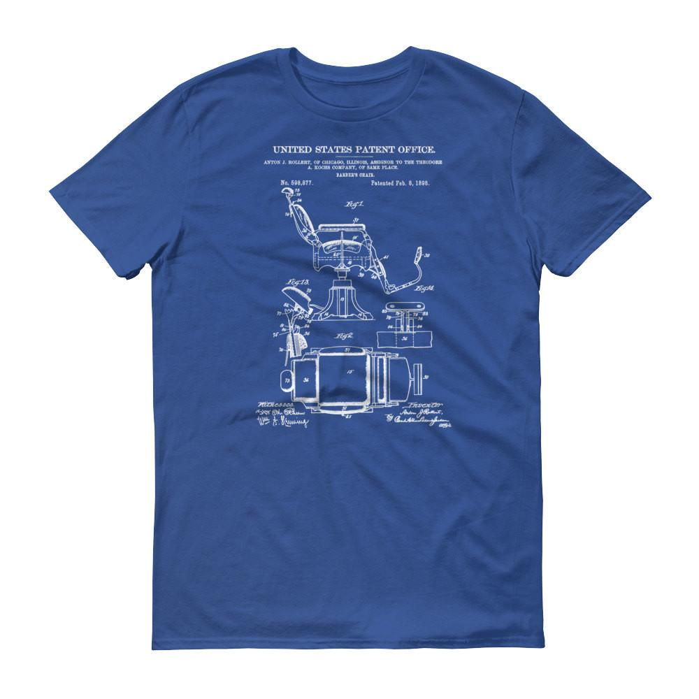 Barber Chair Patent Shirt 1898 Old