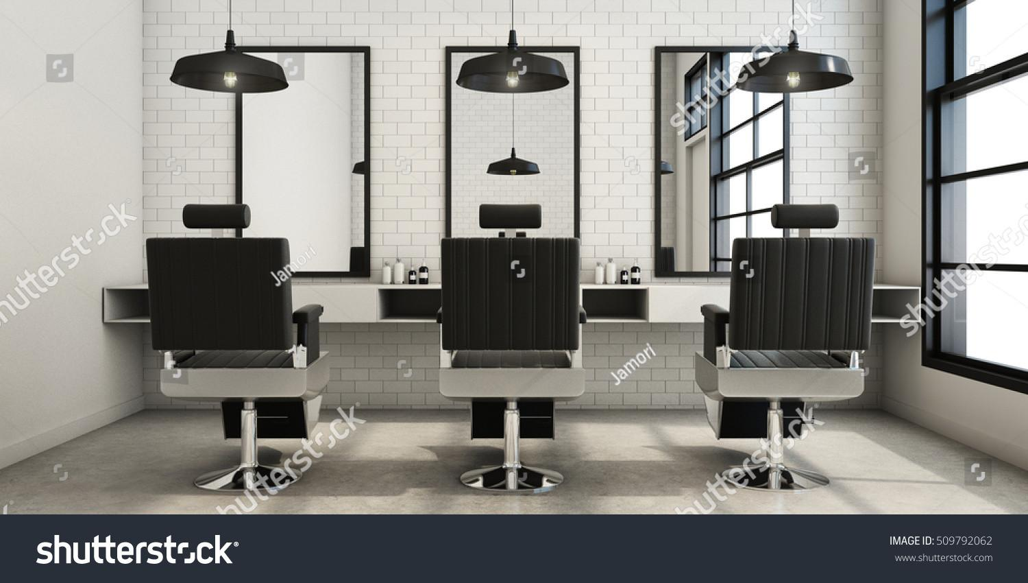 Barber Shop Modern Loft Design Stock Illustration