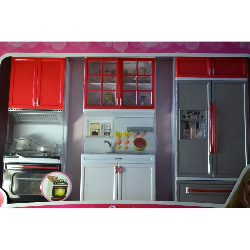 Barbie Sized Dollhouse Furniture Modern Comfort Kitchen