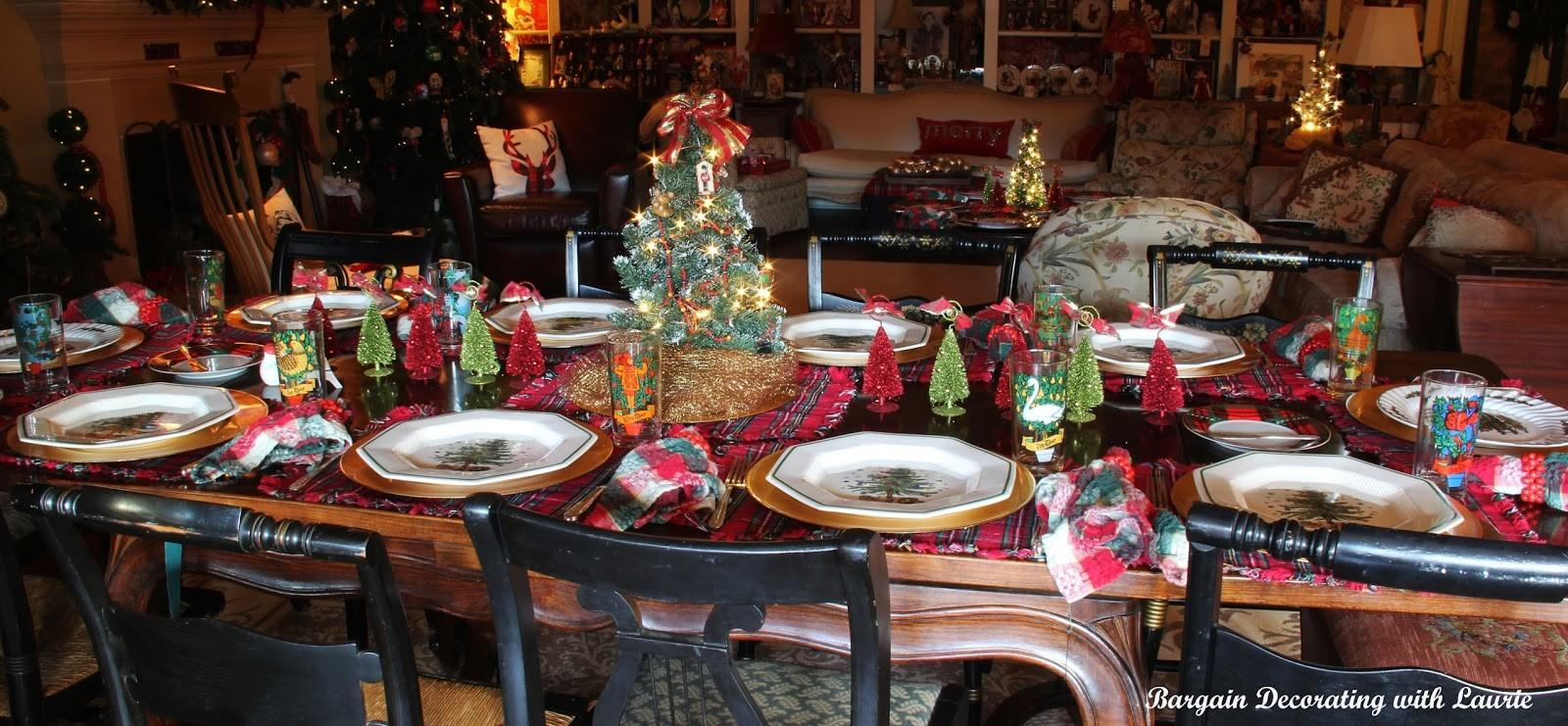 Bargain Decorating Laurie Christmas Tablescapes