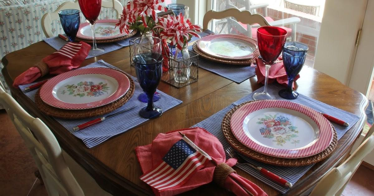 Bargain Decorating Laurie Ten 4th July Tablescapes