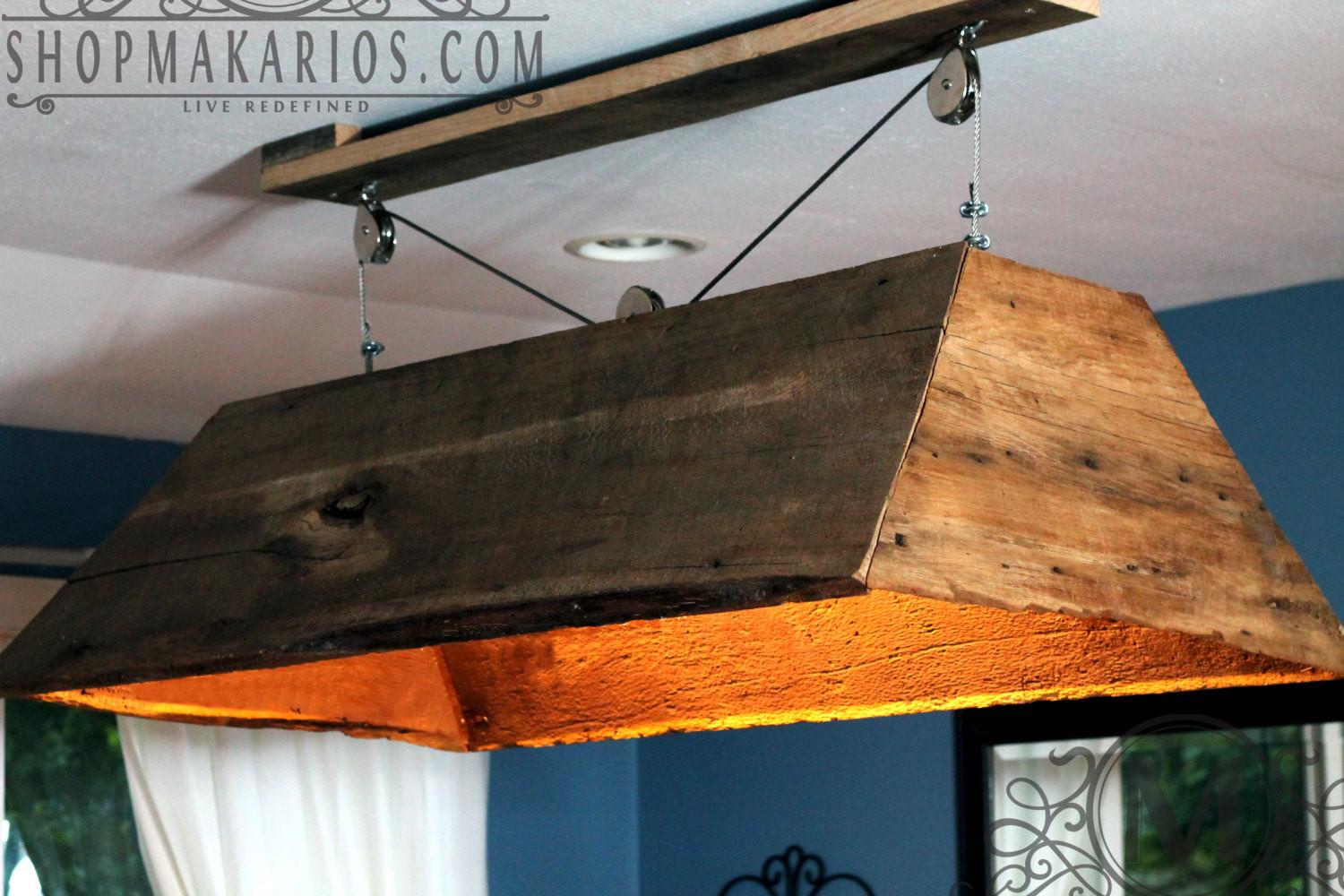 Barn Wood Light Hanging Table Kitchen