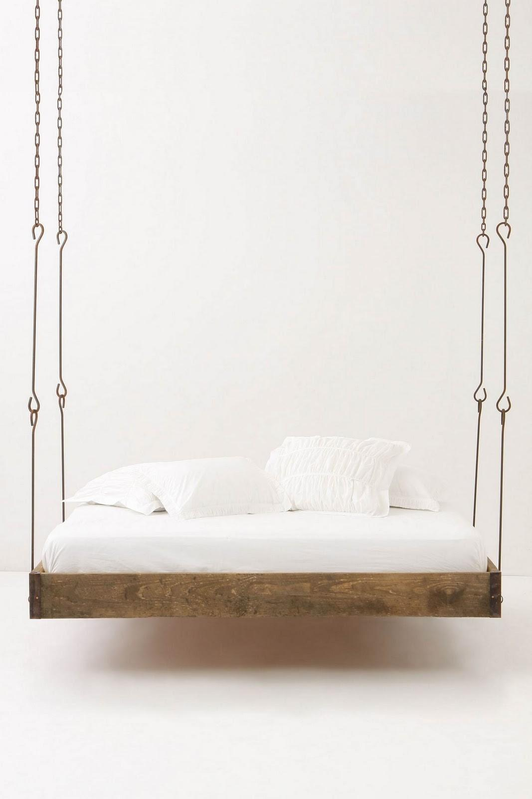 Barnwood Hanging Bed Blue Badger
