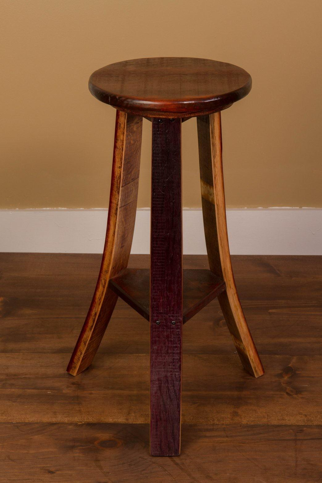 Barrel Bar Stool Surprising Vintage Oak Wine Leather