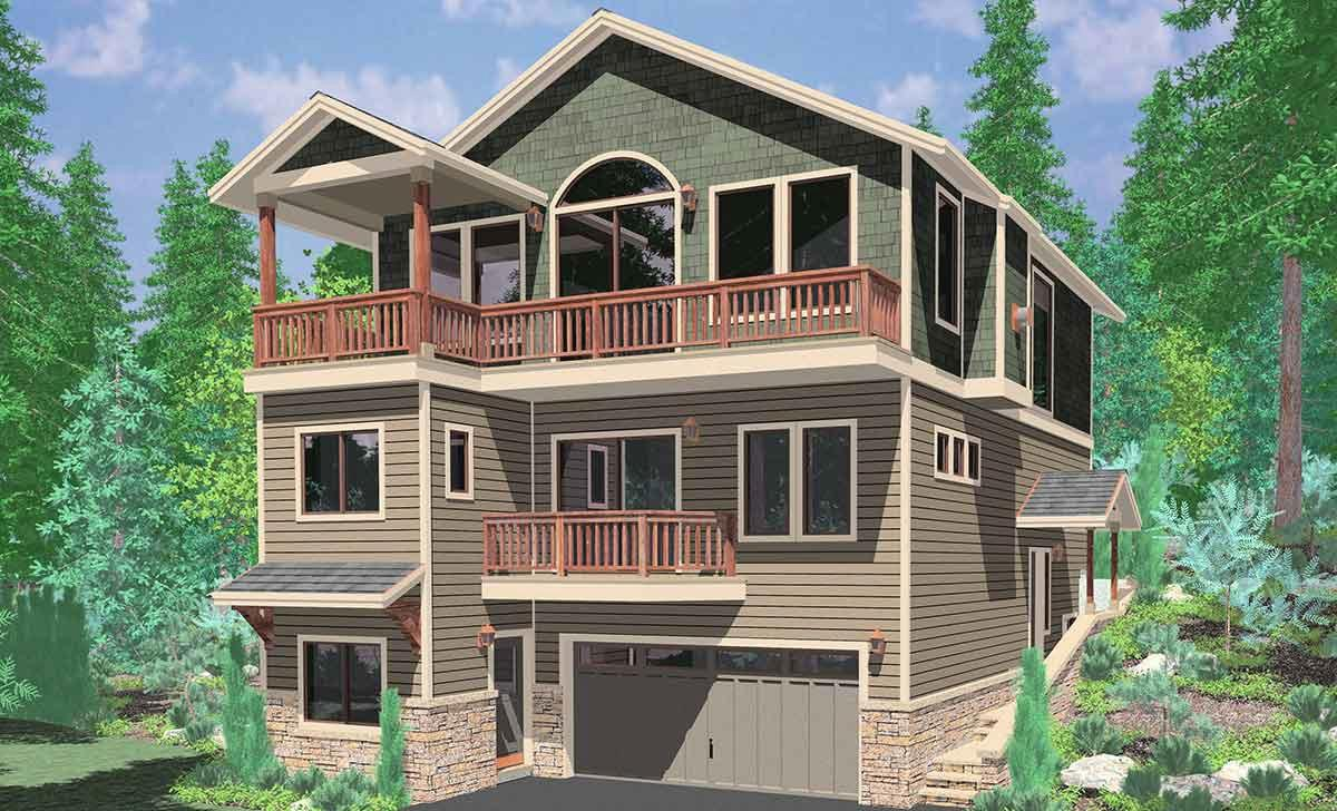 Basement House Plans Hillside