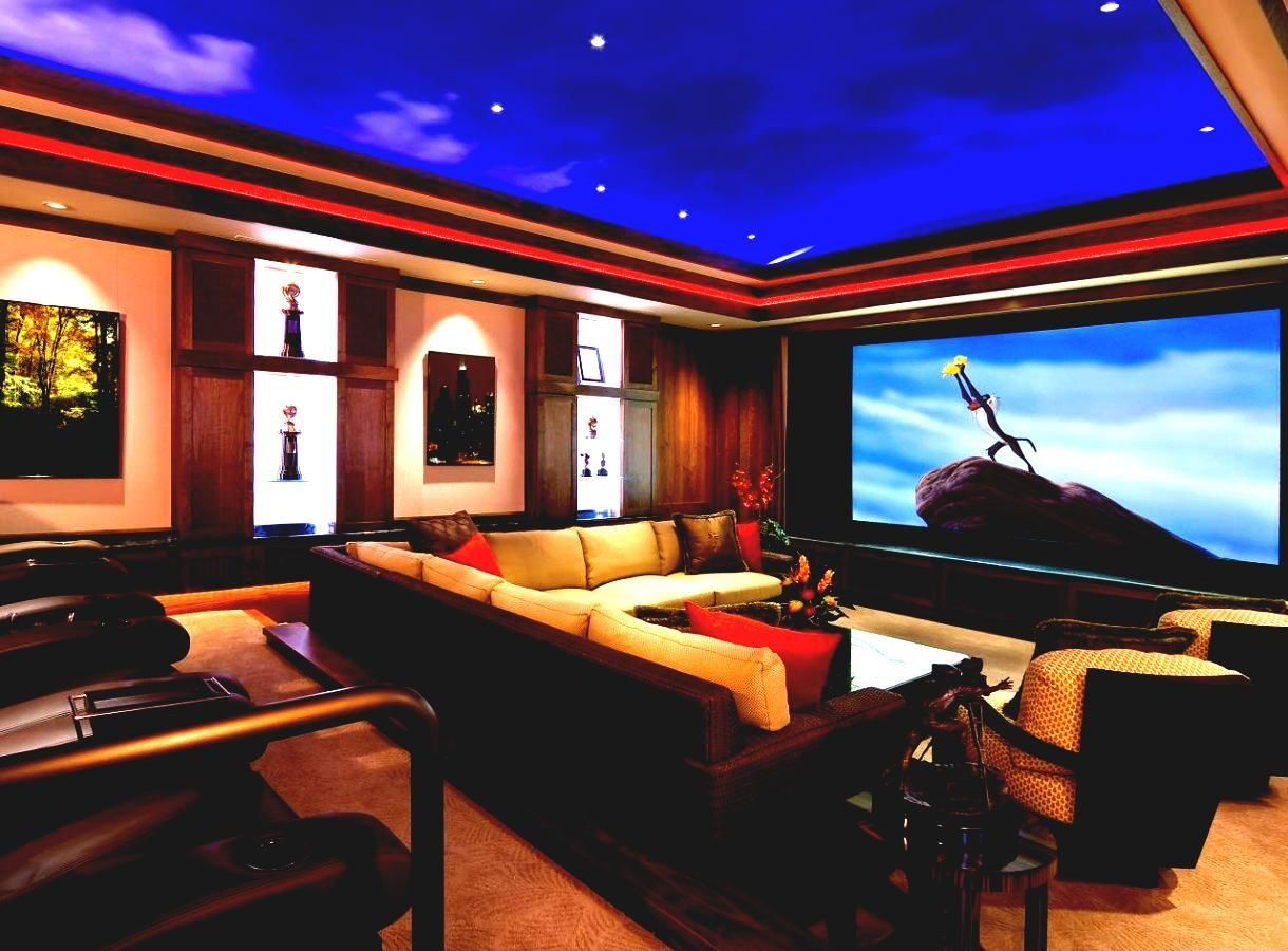 Basement Theater Design Ideas Contemporary Home