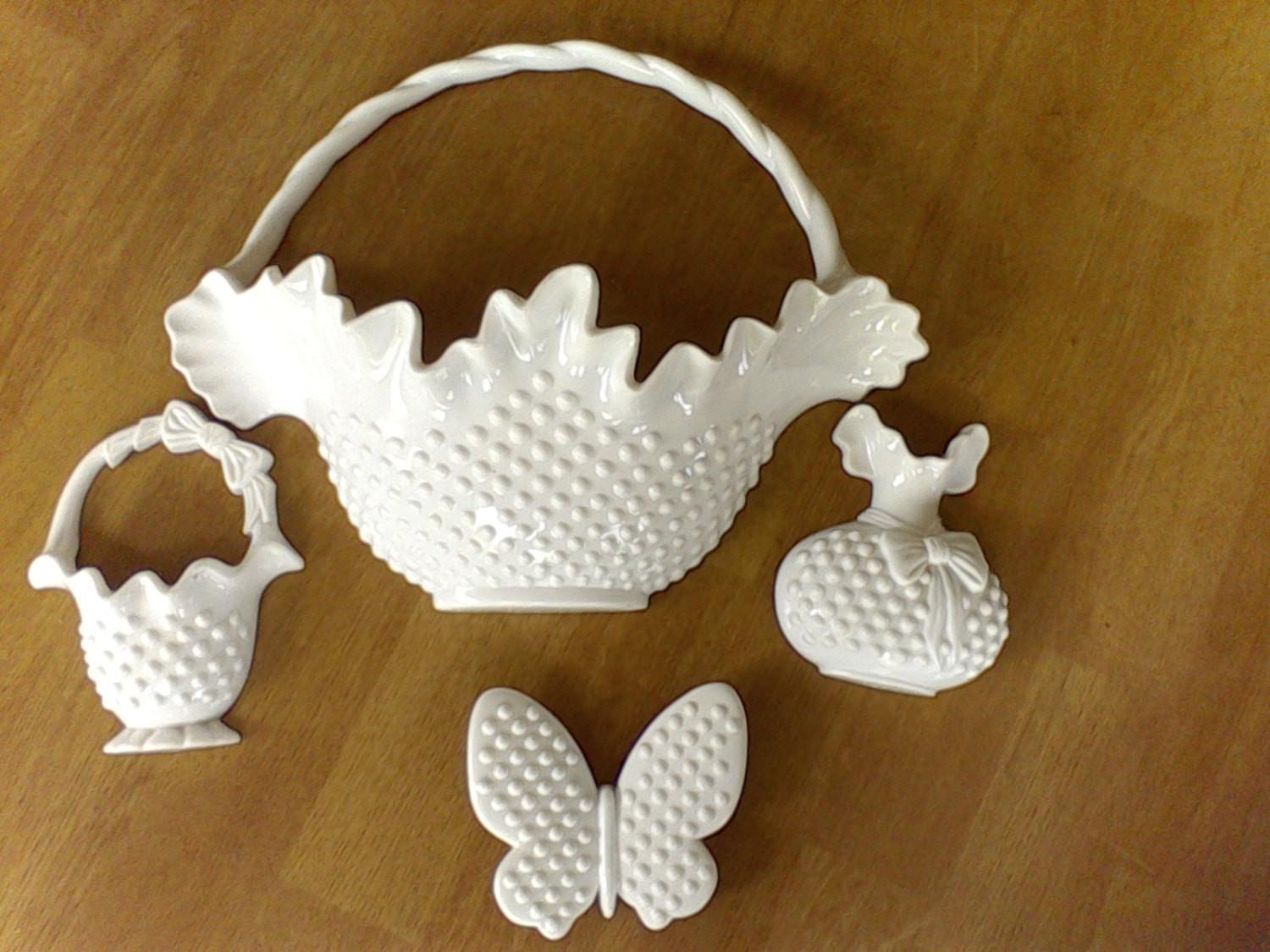 Basket Set Hobnail Wall Decor Burwoodmade Usa