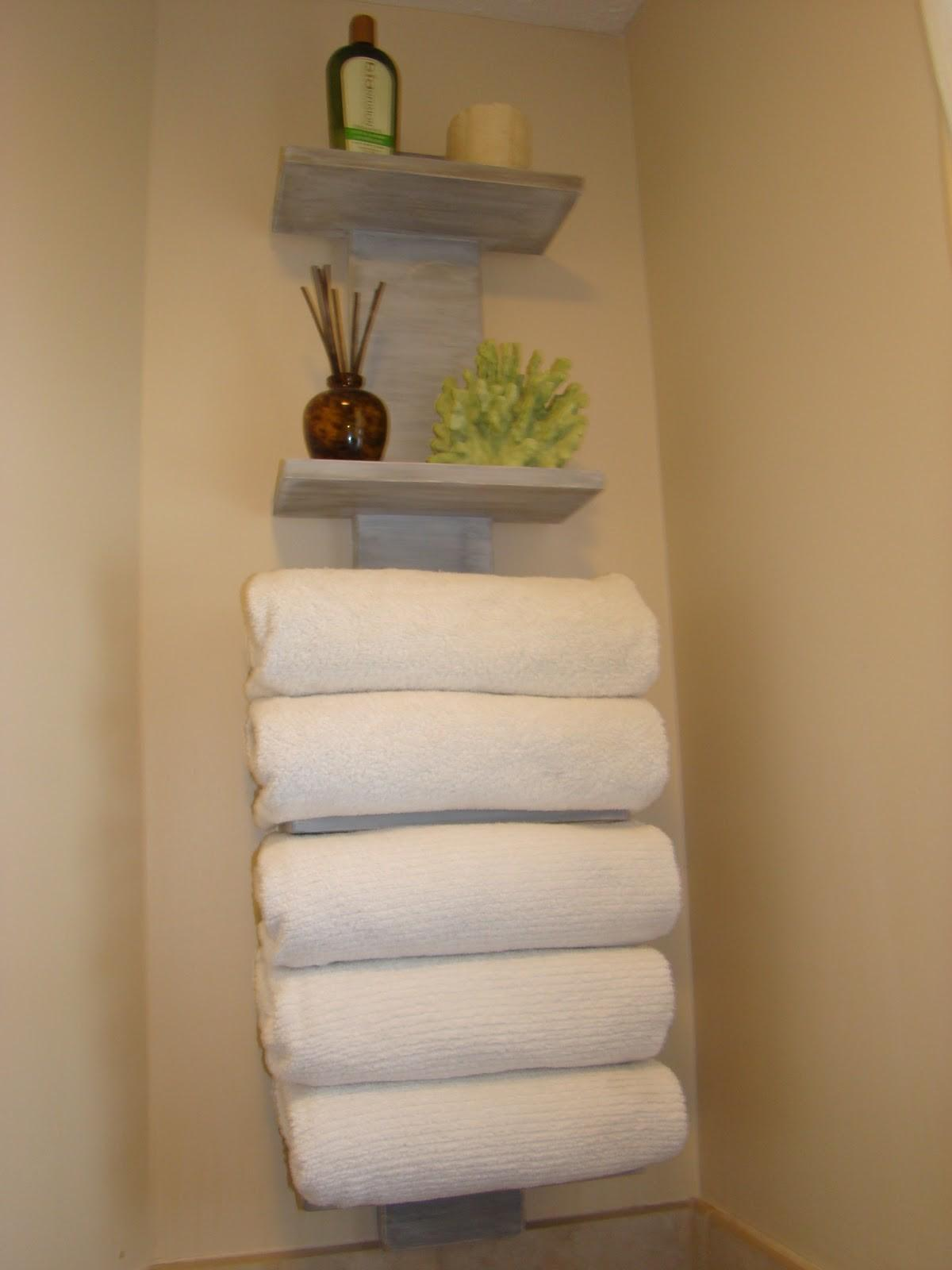 Bath Finally Gets Some Towel Storage