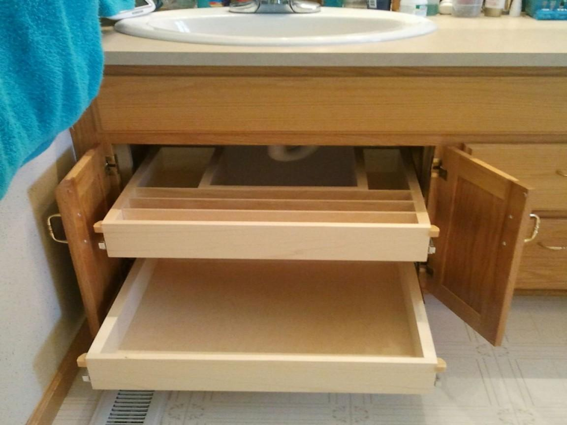 Bathroom Cabinet Storage Solutions Under Roll Out