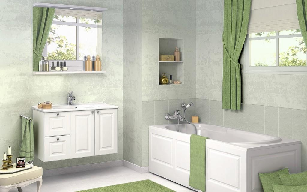 Bathroom Design Ideas Green Curtain Stylehomes