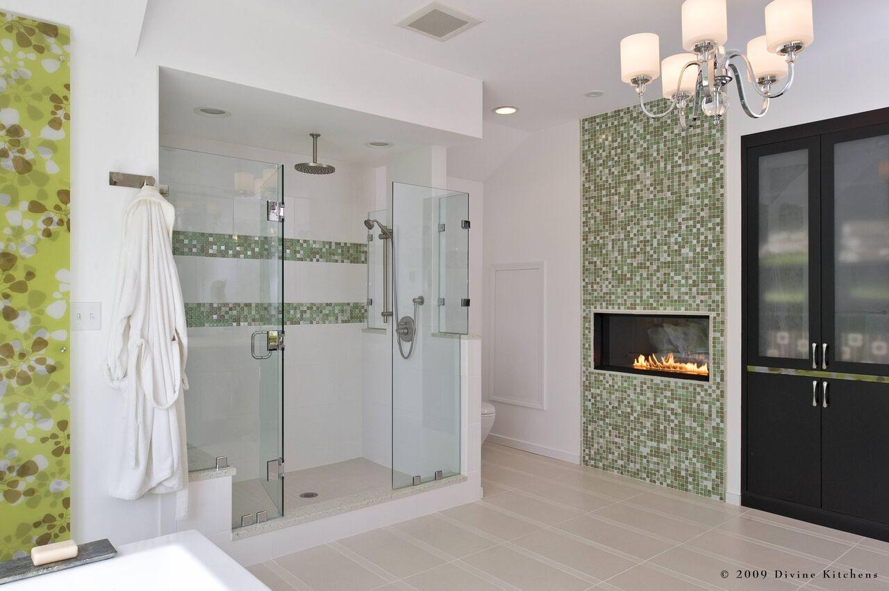 Bathroom Designs Fireplaces Those Have Lot
