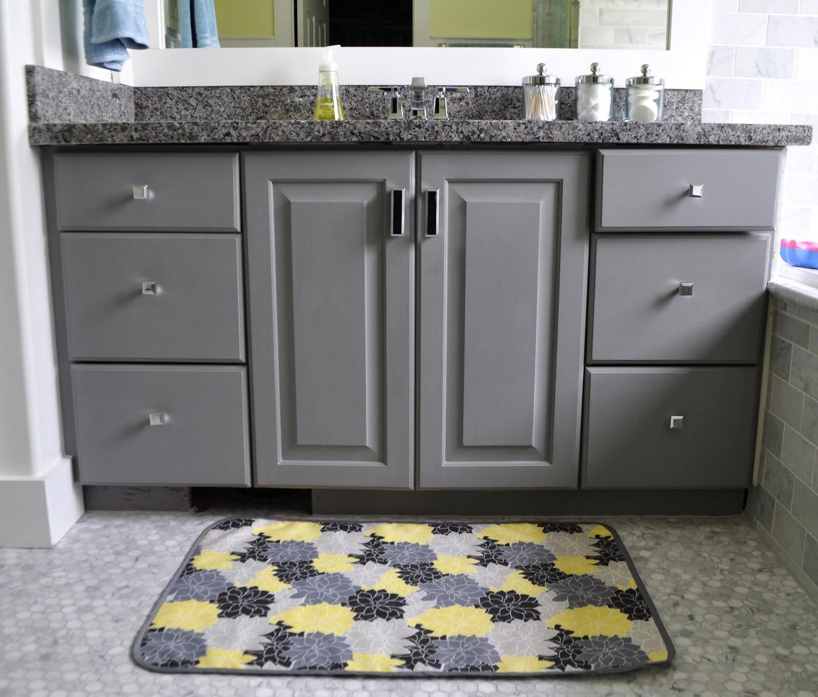 Bathroom Grey Yellow Accessories