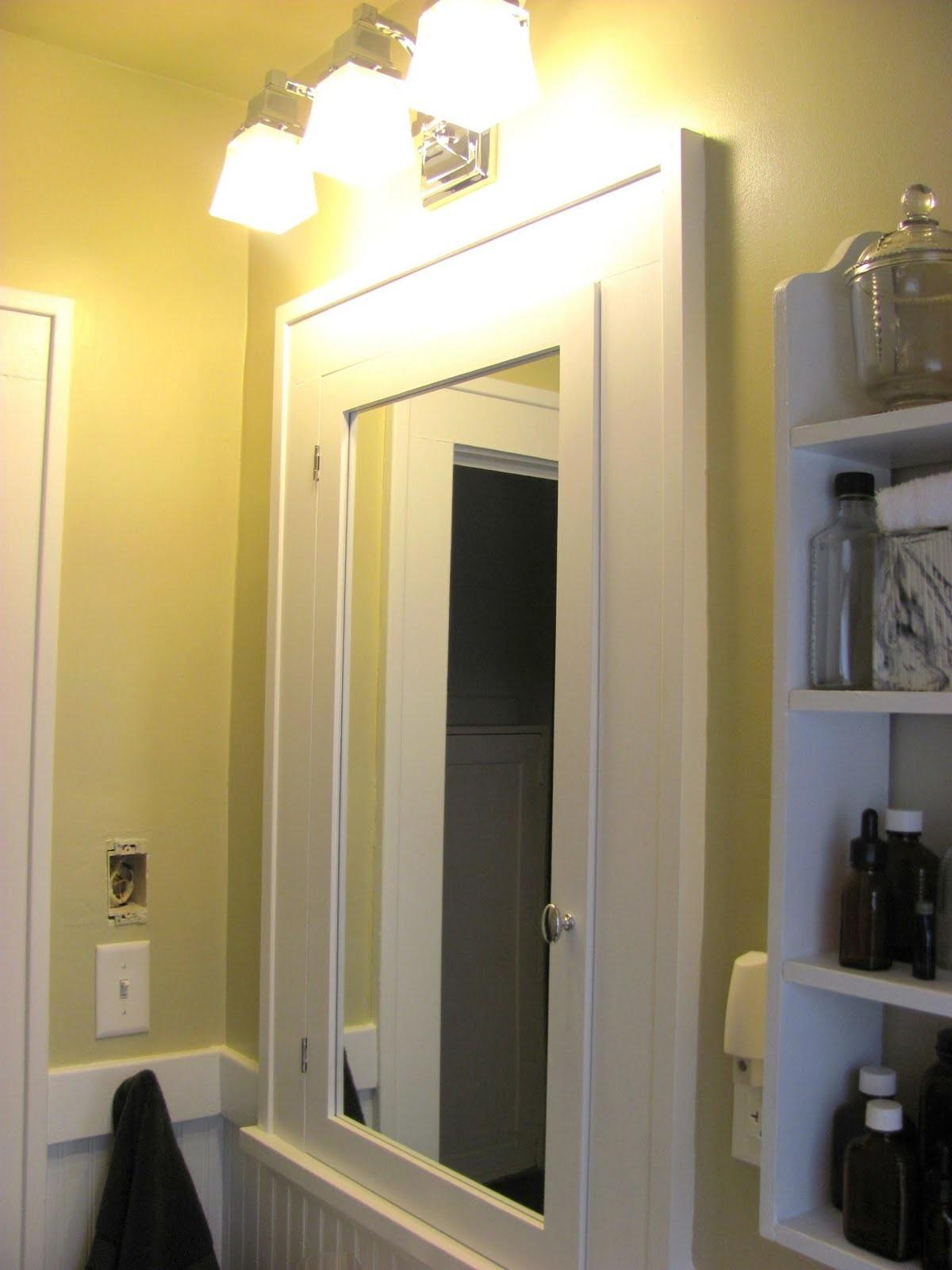 Bathroom Mirrored Medicine Cabinet Double Rectangle