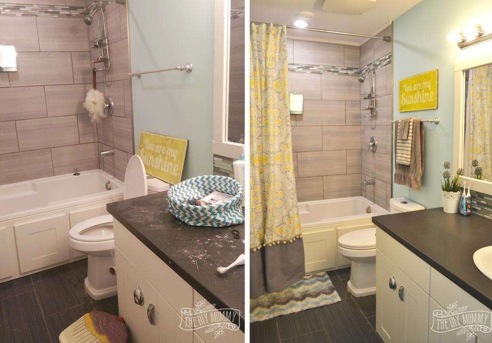 Bathroom Modern Yellow Grey Ideas