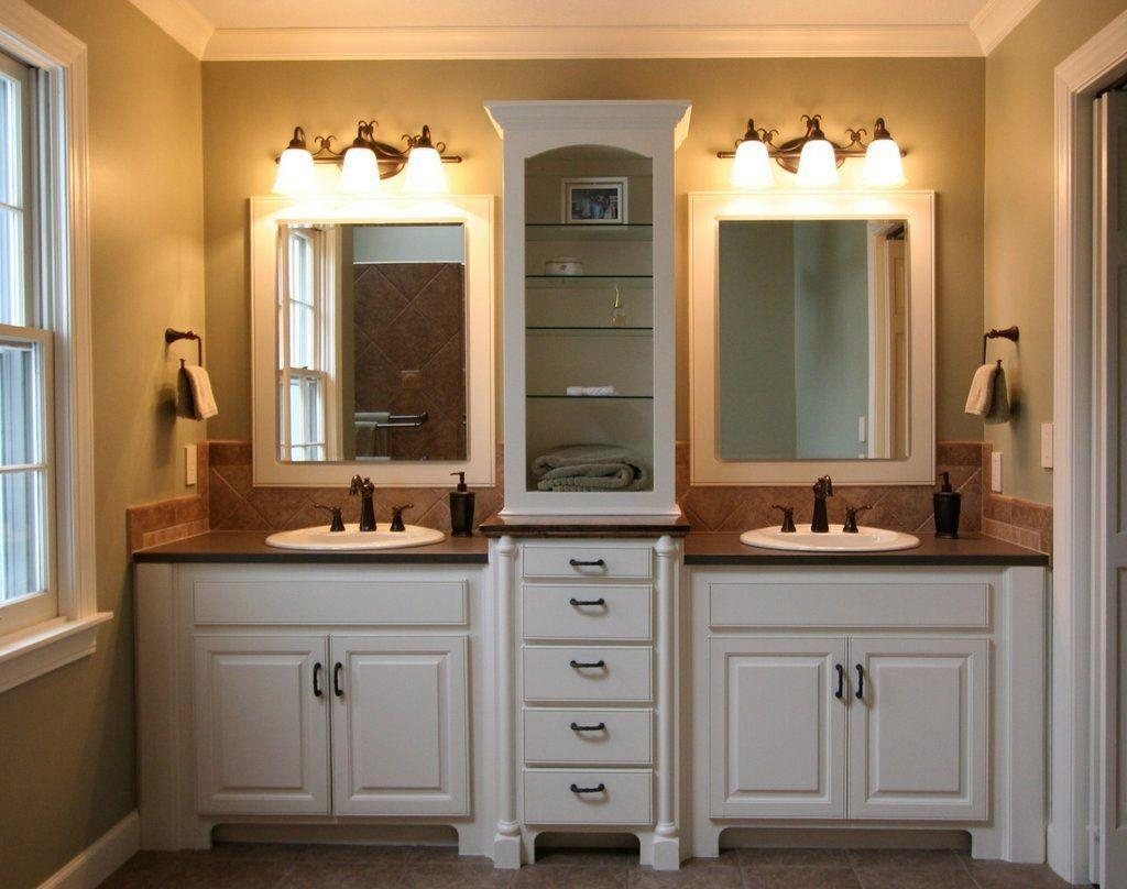 Bathroom Recessed Lighting Ideas White Vanity Light