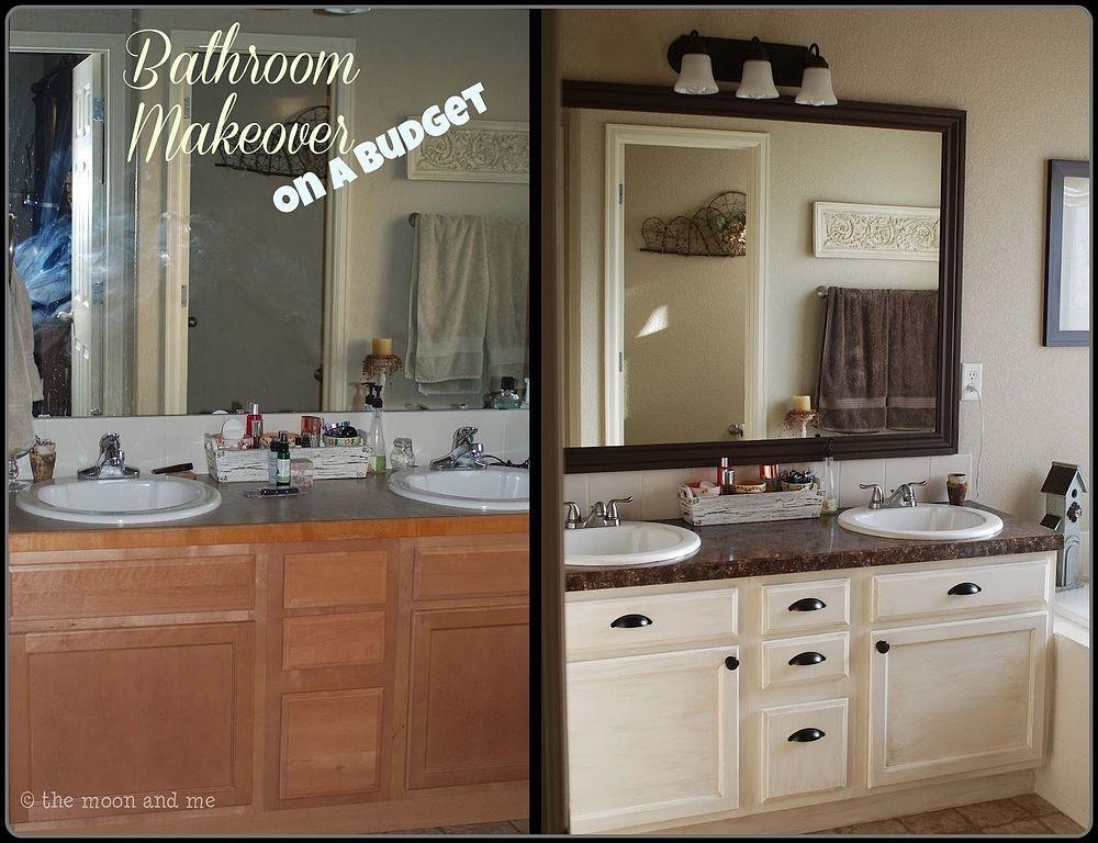 Bathroom Redo Master Mini Makeover Budget Ideas