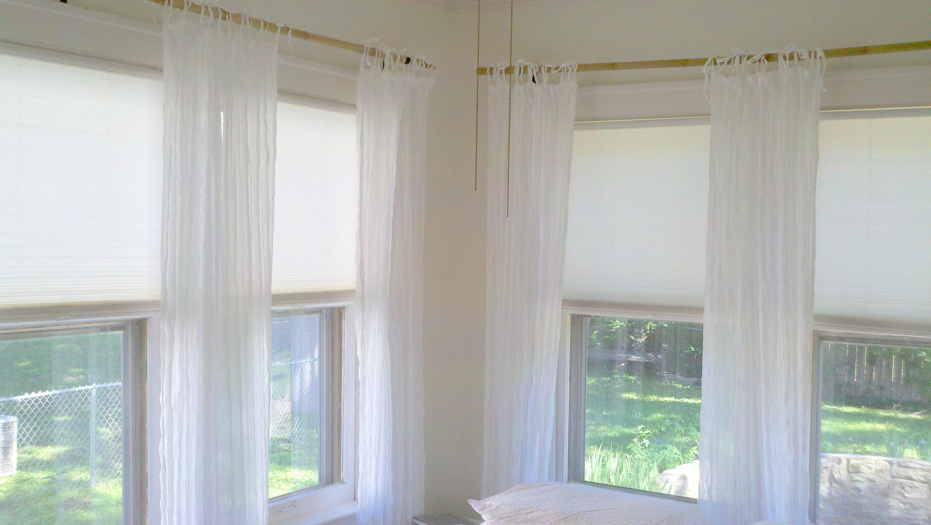 Bathroom Remodel Sheer Curtains Window