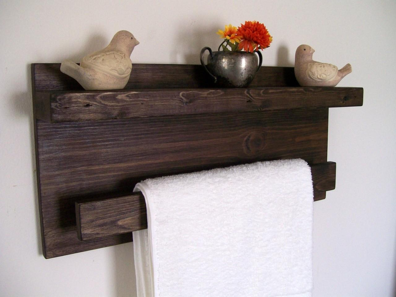 Bathroom Shelving Towel Bar Ideas