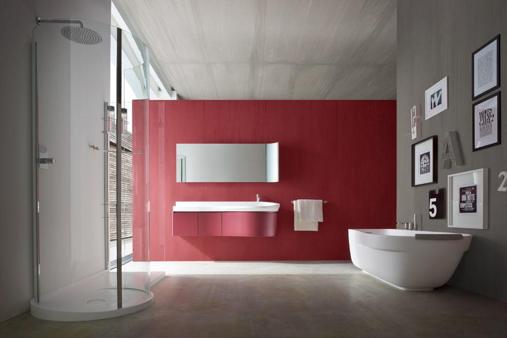 Bathroom Sophisticated Small Red Painted