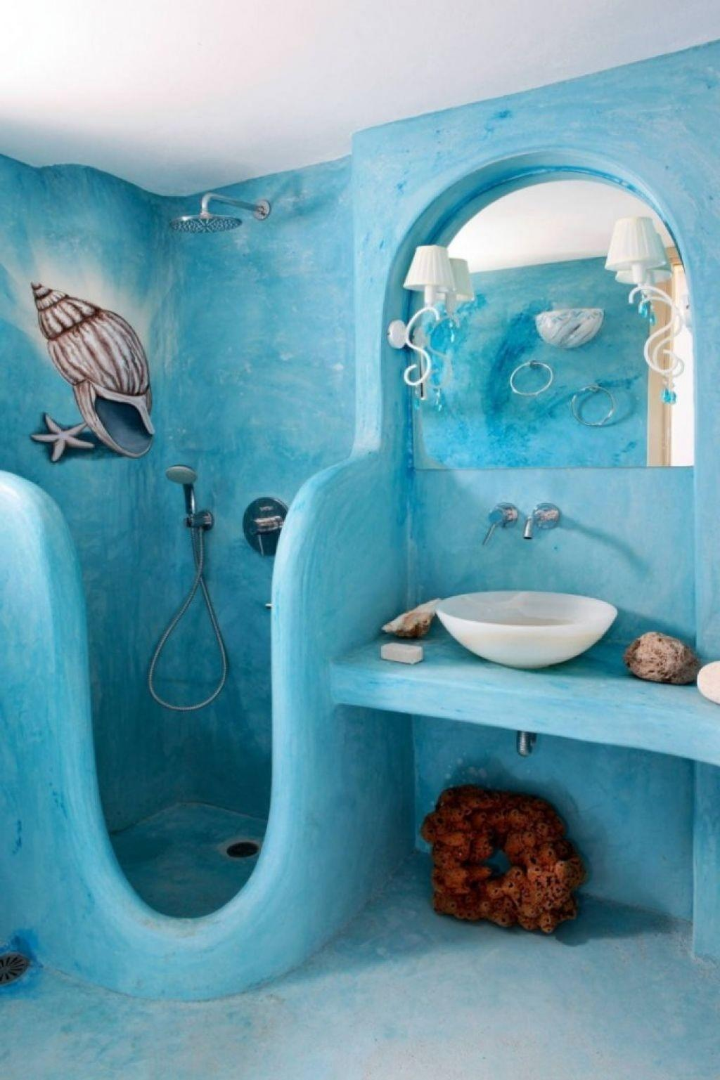 Bathroom Theme Ideas Cute Seascape Decor