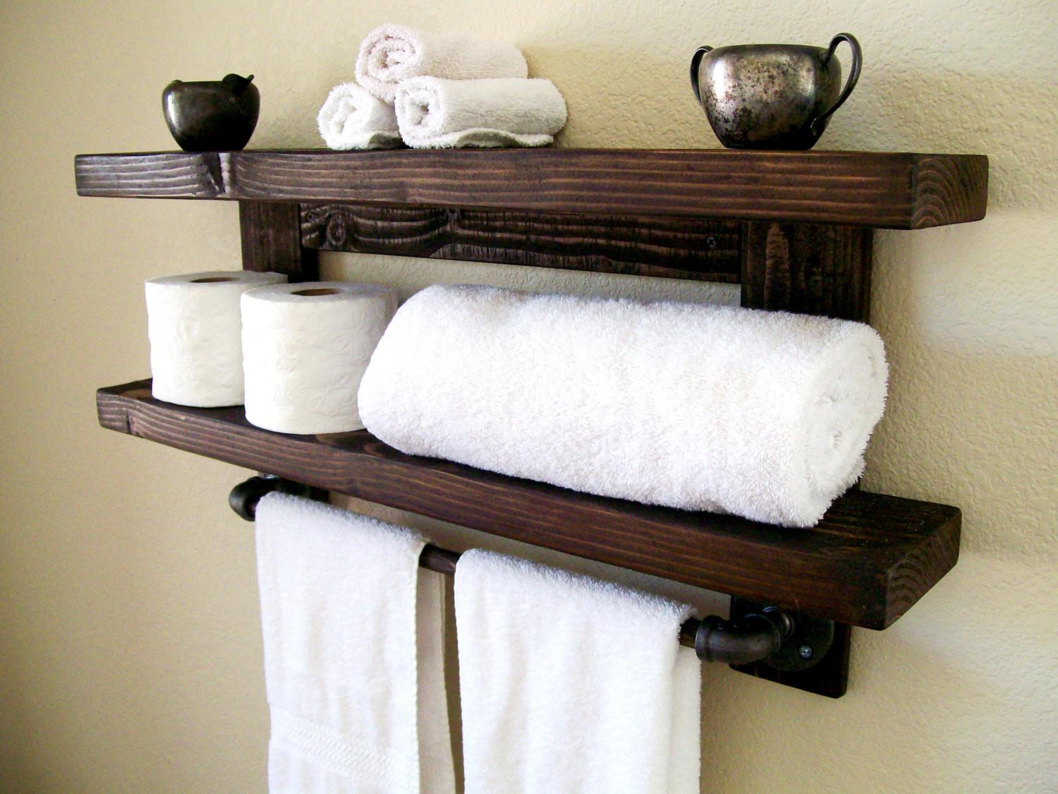Bathroom Towel Rack Diy Med Art Home Design Posters