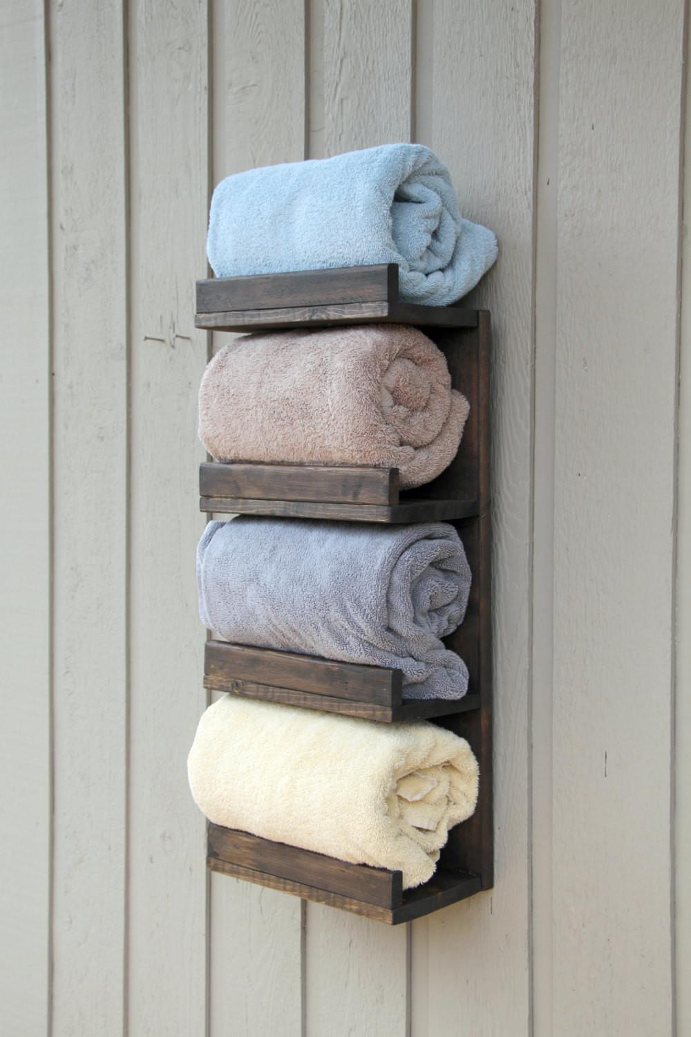 Bathroom Towel Rack Tier Bath Storage Everyday