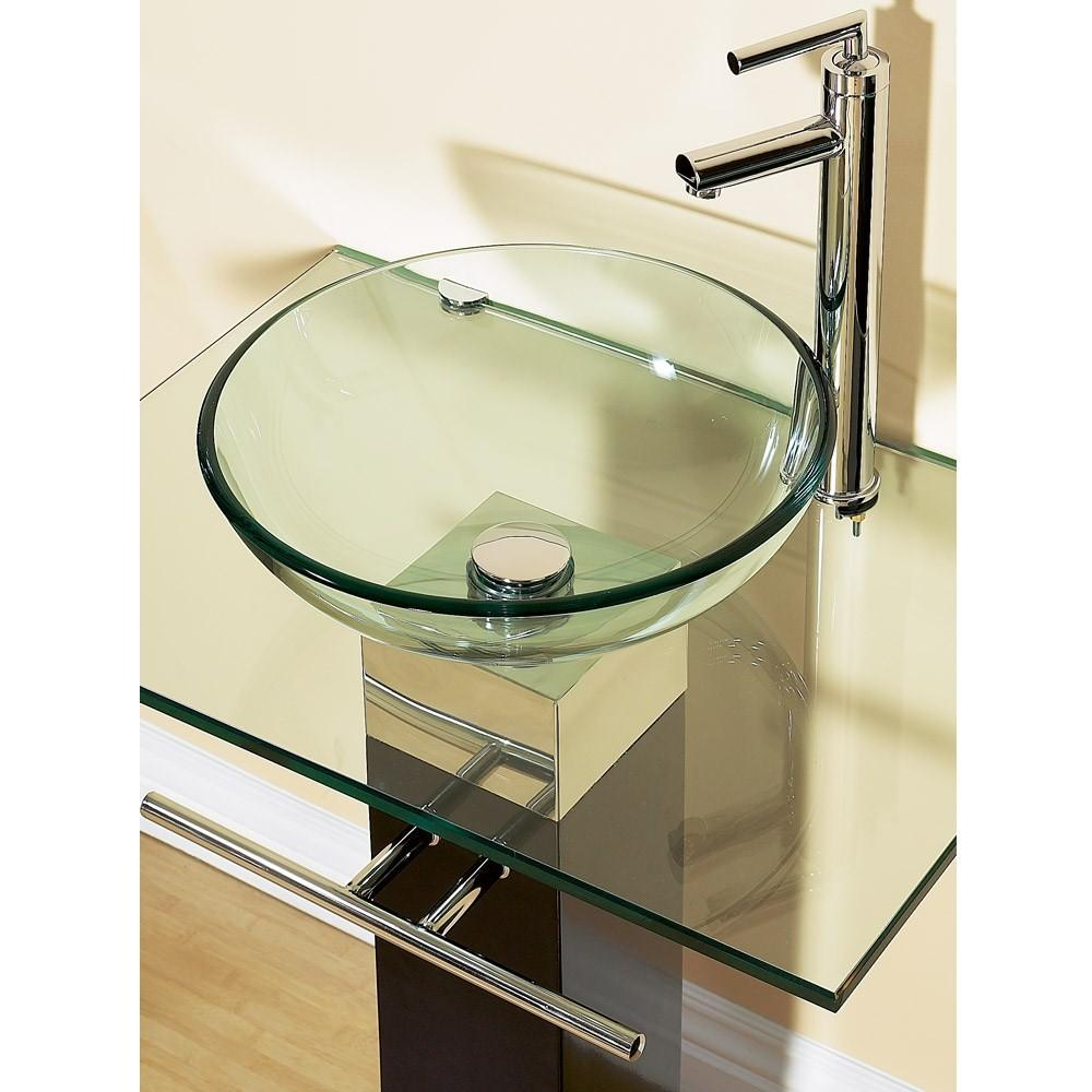 Bathroom Vanities Tempered Glass Vessel Sinks Combo