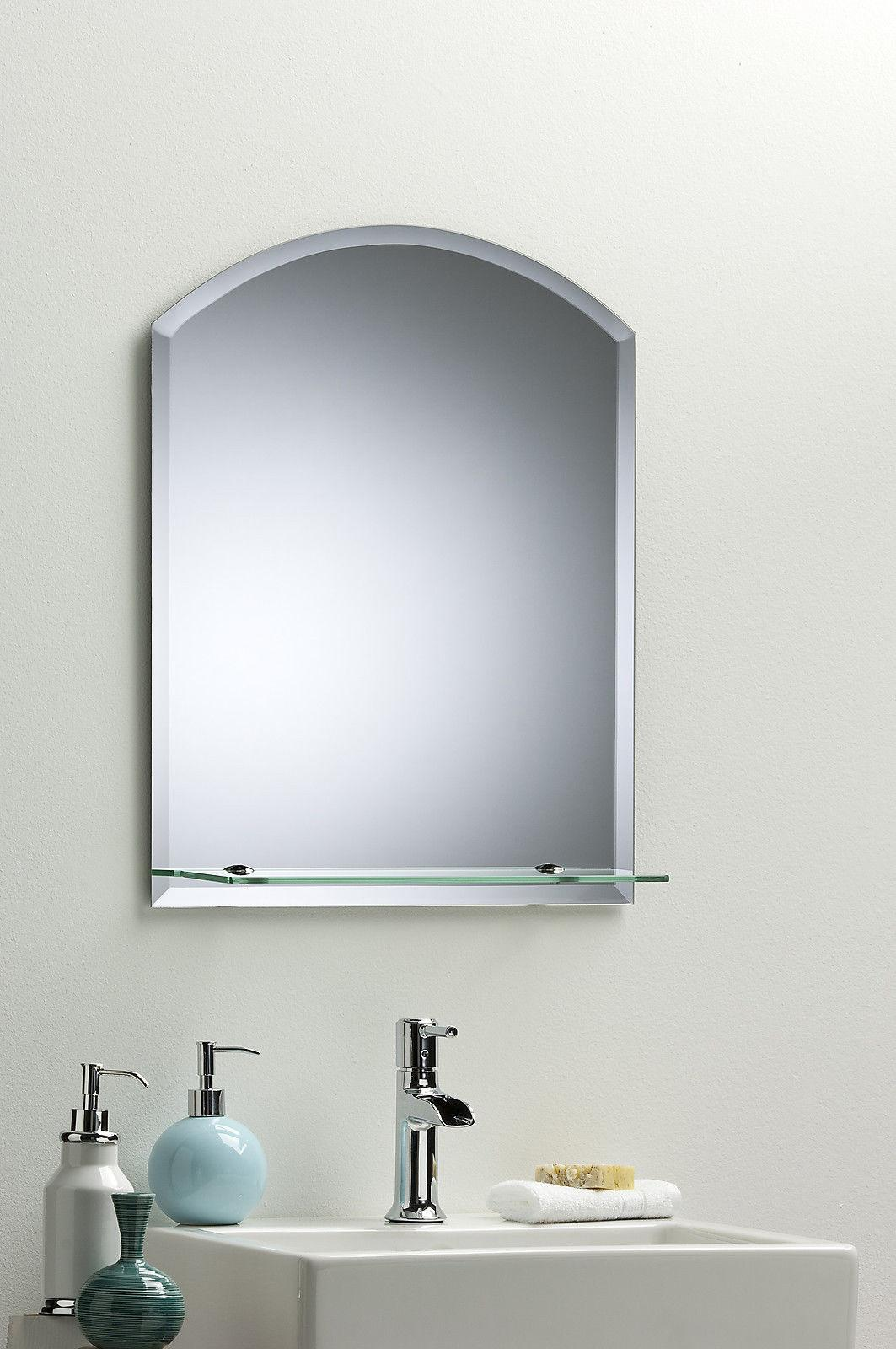 Bathroom Wall Mirror Modern Stylish Arch Shelf