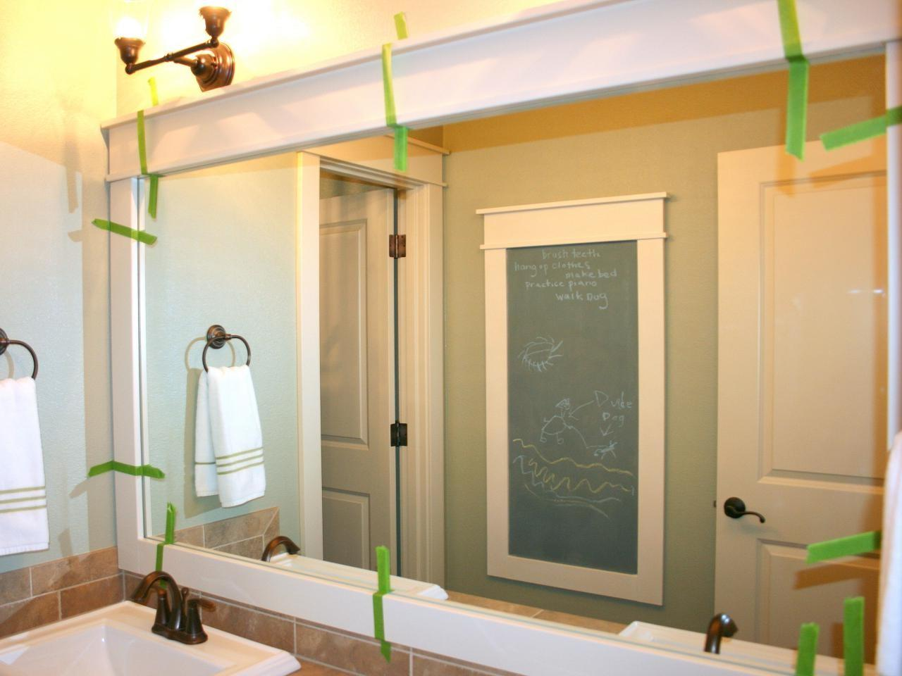Bathrooms Astounding Bathroom Mirrors White Framed